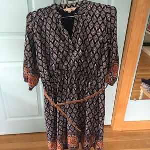ASOS Paisley Long-Sleeve Dress